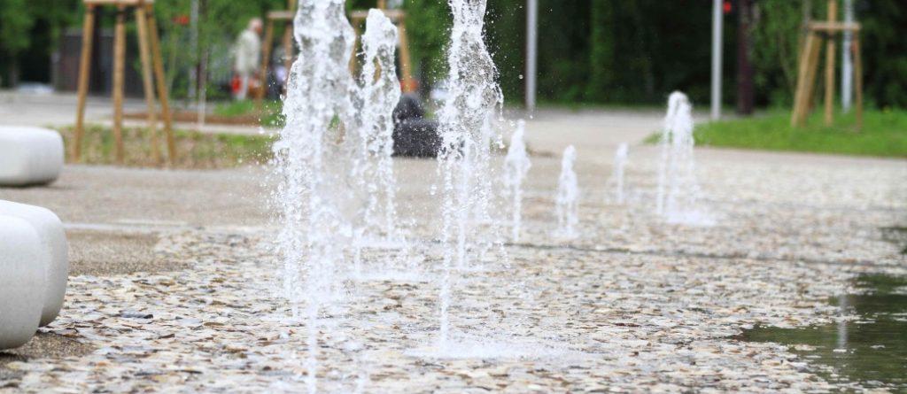 Ostwald - Ilot A - Fontaine - Jets d'eau